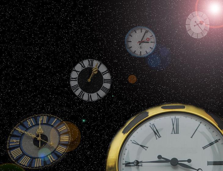 Universum der Uhren