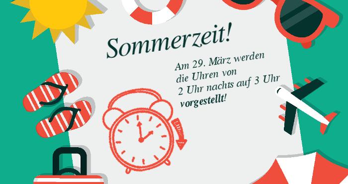 Zeitumstellung 2015 auf Sommerzeit