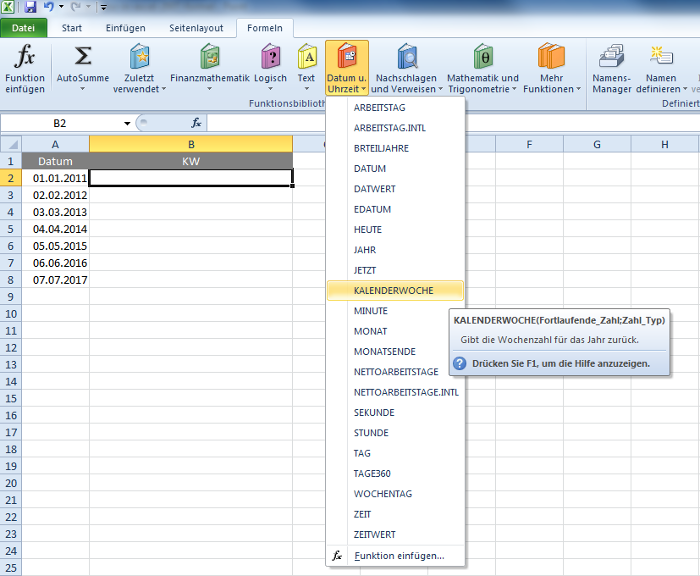 excel formel and